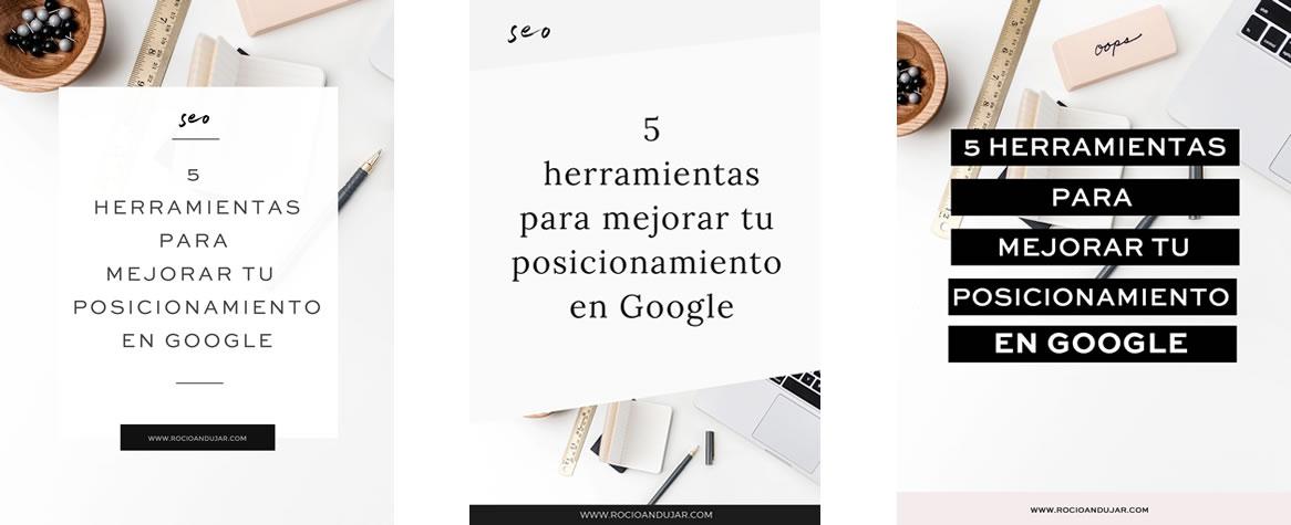 3 ejemplos de plantillas de diseño para Pinterest