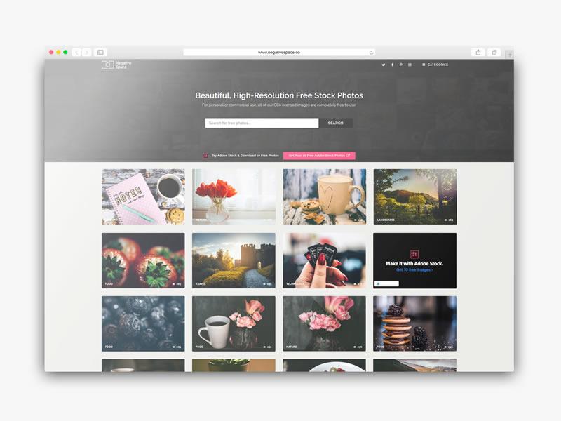 Descargar imagenes hd gratis con NegativeSpace