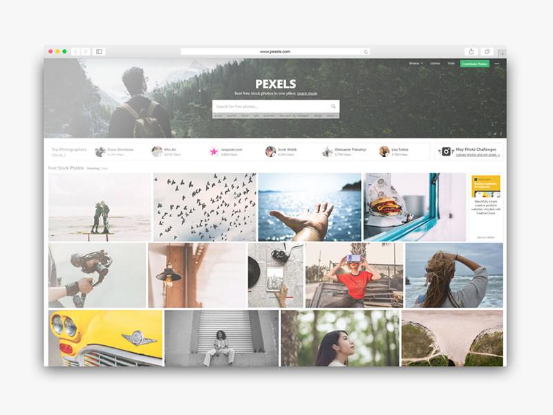 Descargar imagenes grais para tu sitio web con pexels