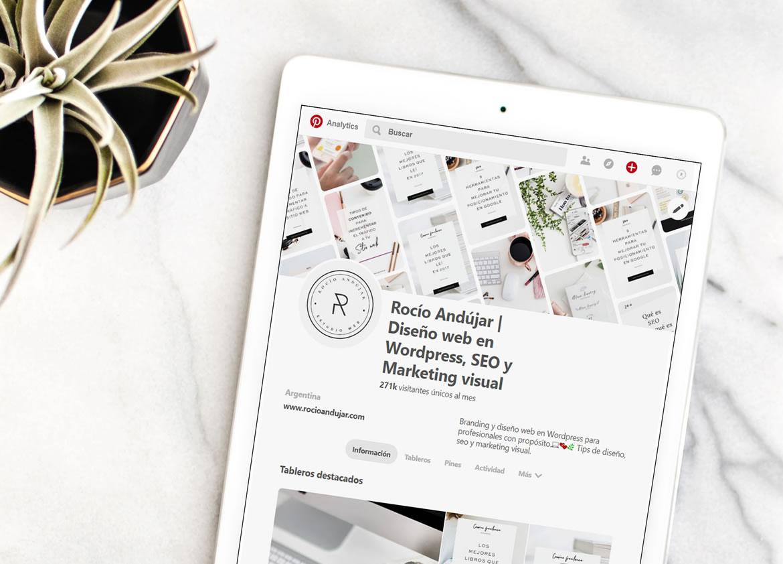 Pinterest SEO - Palabras clave en nombre comercial o perfil