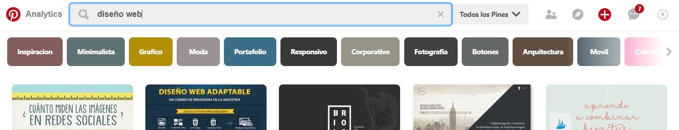 Como buscar palabras clave para mejorar seo en Pinterest