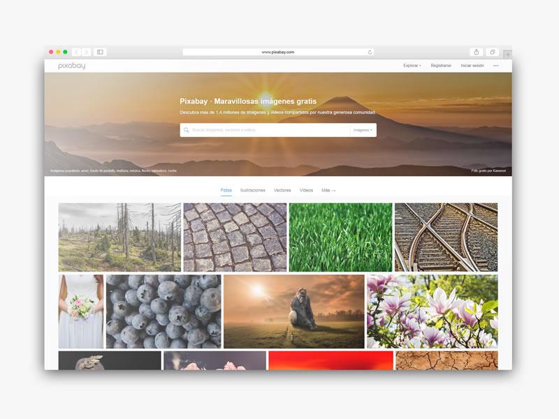 Descarga imagenes gratis para tu sitio web con pixabay