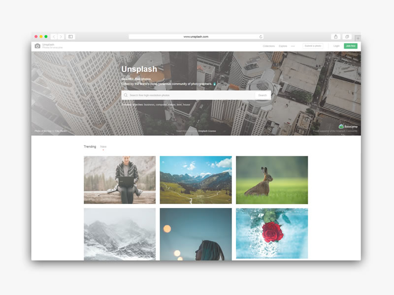 Descarga imagenes gratis con unsplash